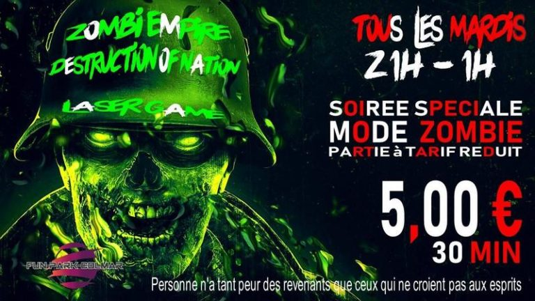 Laser Game Colmar - Tous les Mardis Mode Zombie - Fun Park Colmar