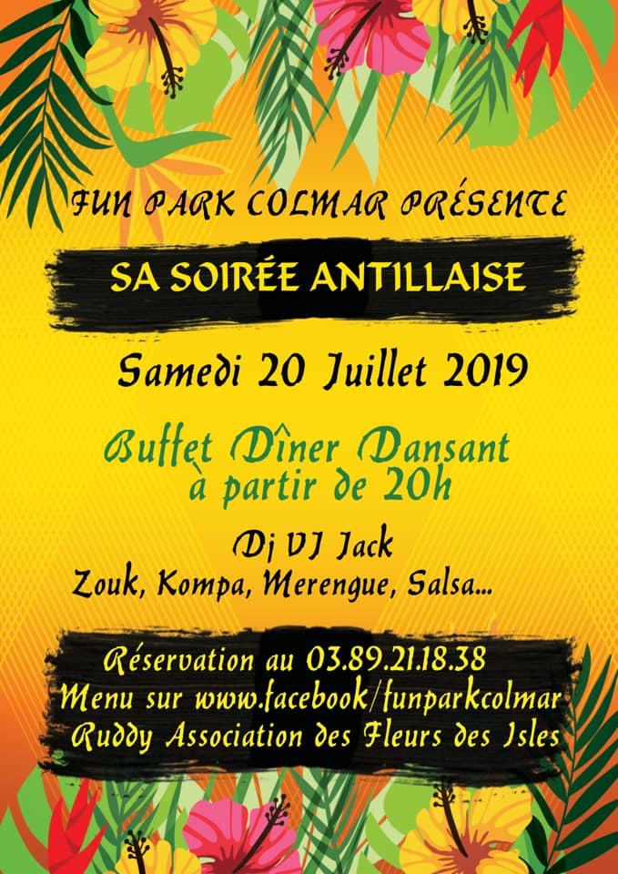 Soirée Antillaise le 20 juillet 2019 - Fun Park Colmar